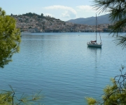 Poros Town - views from the island